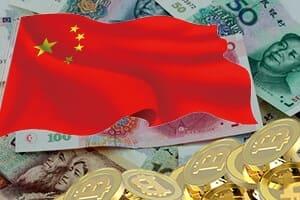 China bitcoin trade volume